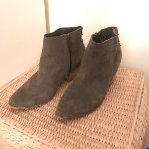rugged olive green booties
